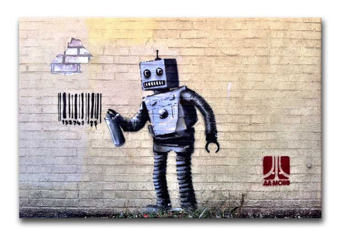 Banksy Robot Canvas Print or Poster