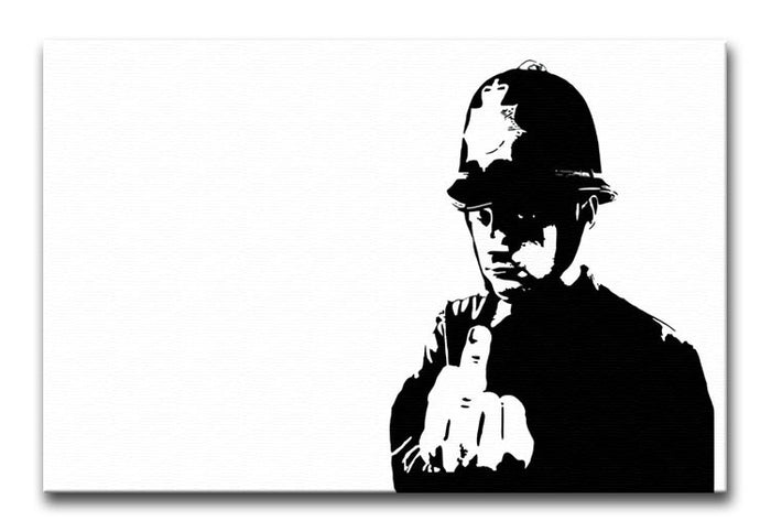 Banksy Rude Policeman Canvas Print or Poster