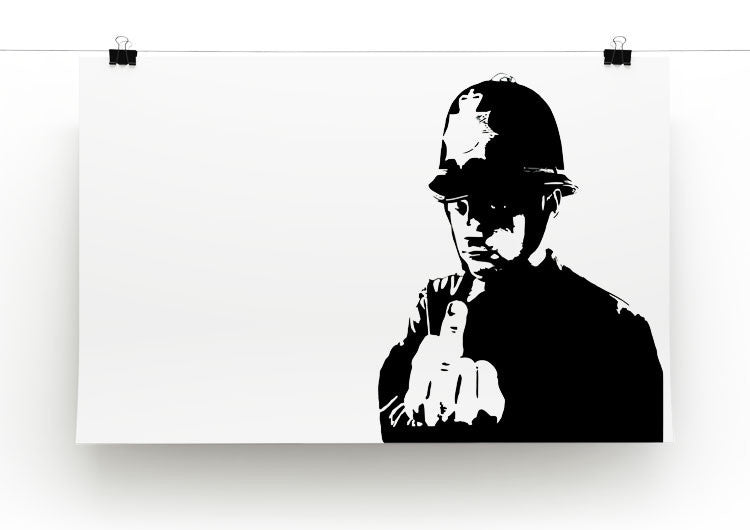 Banksy Rude Policeman Print - Canvas Art Rocks - 2