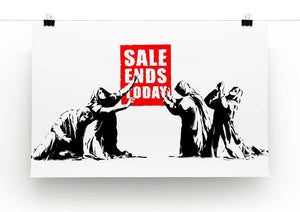 Banksy Sale Ends Today Print - Canvas Art Rocks - 2