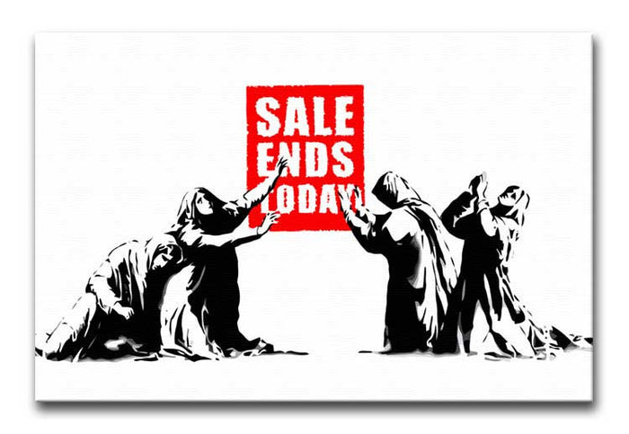 Banksy Sale Ends Today Canvas Print or Poster