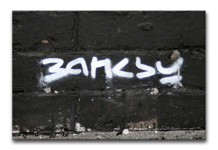 Banksy Signature Tag Canvas Print or Poster