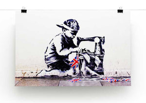 Banksy Slave Labour Print - Canvas Art Rocks - 2
