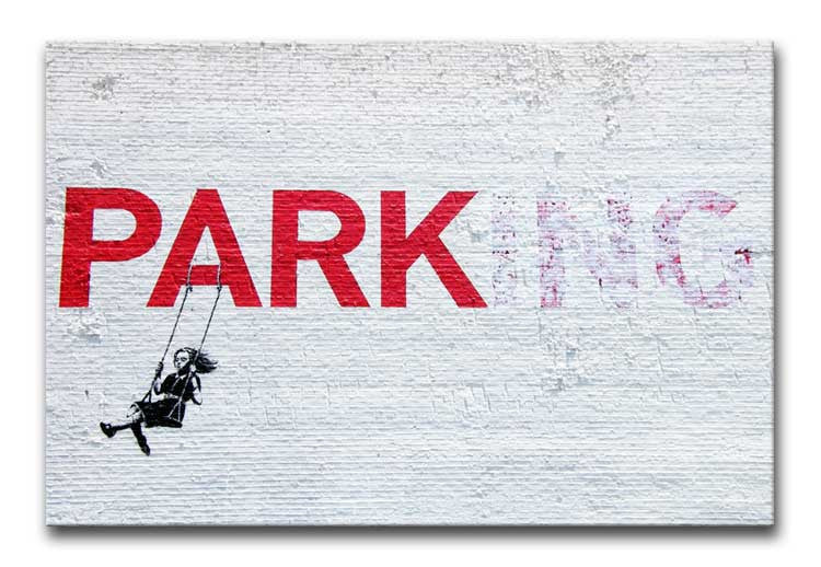 Banksy Swing Girl Print - Canvas Art Rocks - 1