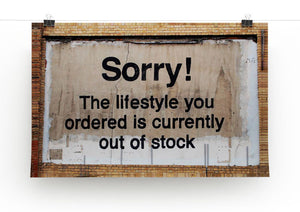 Banksy The Lifestyle You Ordered Print - Canvas Art Rocks - 2