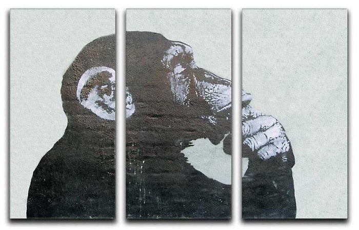 Banksy The Thinker Monkey 3 Split Canvas Print