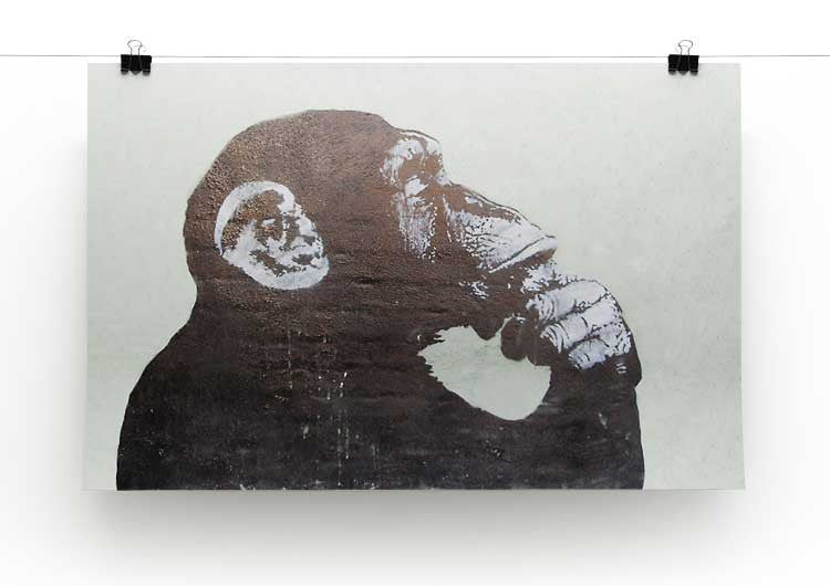 Banksy The Thinker Monkey Print - Canvas Art Rocks - 3