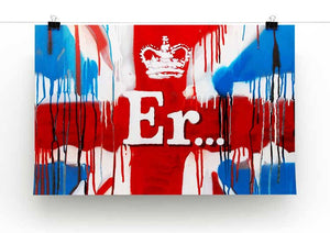 Banksy Union Jack ER Print - Canvas Art Rocks - 2