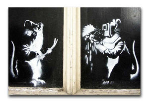 Banksy Welding Rats Print - Canvas Art Rocks - 1