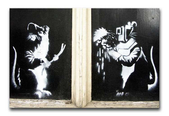 Banksy Welding Rats Canvas Print or Poster
