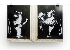Banksy Welding Rats Print - Canvas Art Rocks - 2