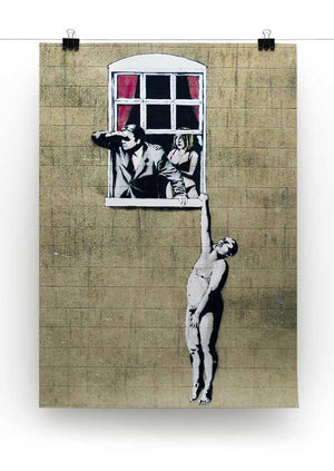 Banksy Window Lovers Print - Canvas Art Rocks - 2