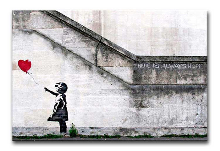 Banksy There is Always Hope Canvas Print or Poster