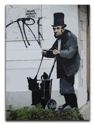 Banksy Abraham Lincoln Canvas Print or Poster  - Canvas Art Rocks - 1