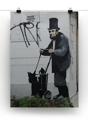 Banksy Abraham Lincoln Canvas Print or Poster - Canvas Art Rocks - 2