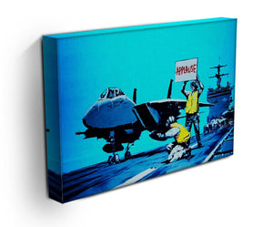 Banksy Aircraft Carrier Applause Print - Canvas Art Rocks - 3
