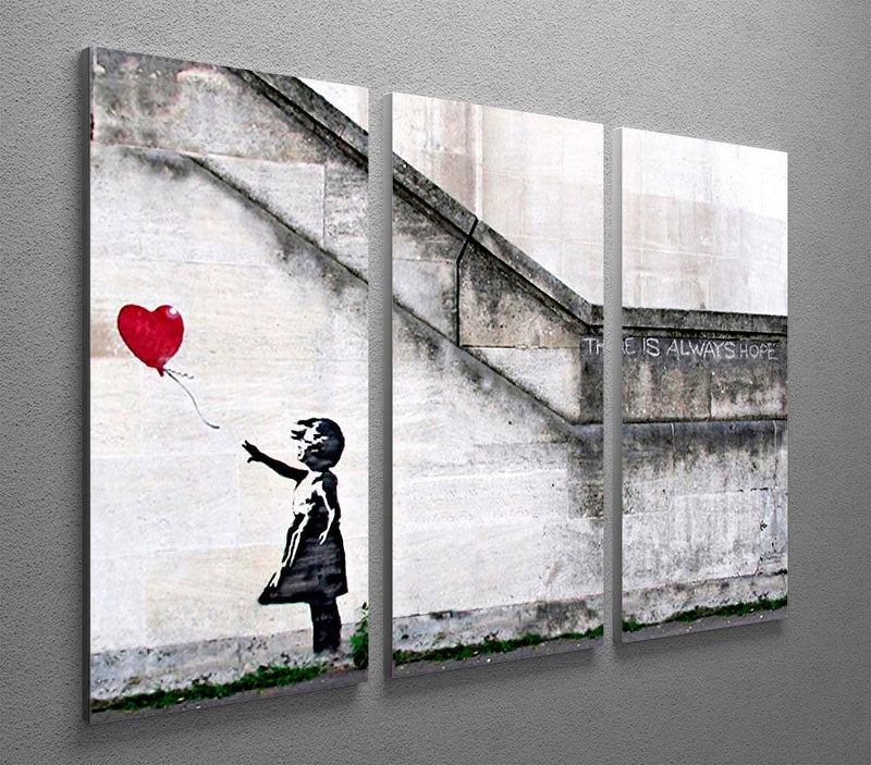Banksy There Is Always Hope 3 Split Canvas Print - US Canvas Art Rocks