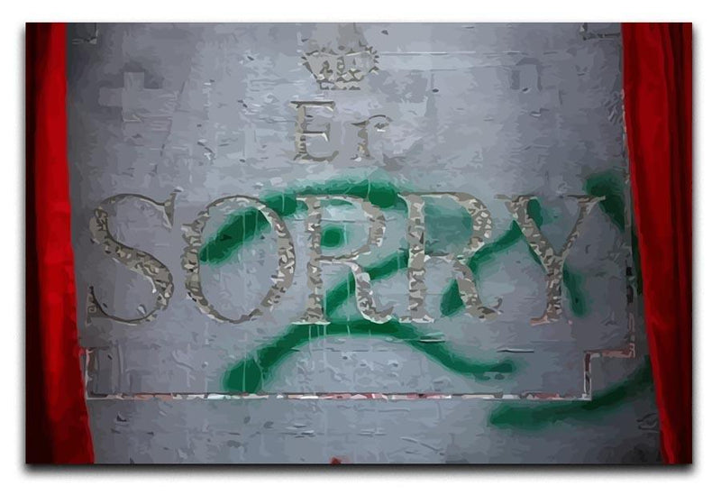 Banksy Apology Party For Palestinians Canvas Print or Poster  - Canvas Art Rocks - 1