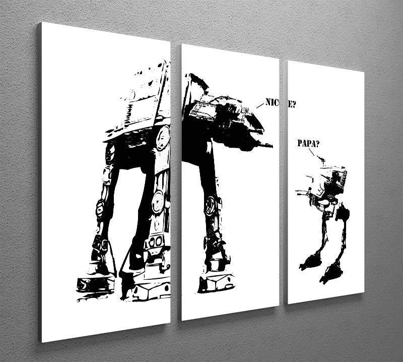 Banksy Atat 3 Split Panel Canvas Print - Canvas Art Rocks - 4