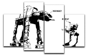 Banksy Atat 4 Split Panel Canvas  - Canvas Art Rocks - 1