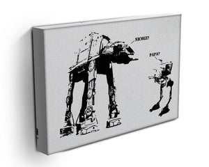 Banksy Atat Canvas Print or Poster - Canvas Art Rocks - 3