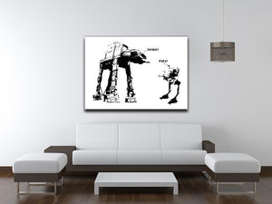 Banksy Atat Canvas Print or Poster - Canvas Art Rocks - 4