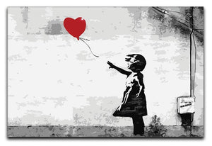 Banksy Balloon Girl Love Heart Canvas Print or Poster  - Canvas Art Rocks - 1