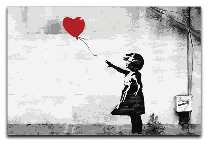 Banksy Balloon Girl Love Heart Canvas Print or Poster
