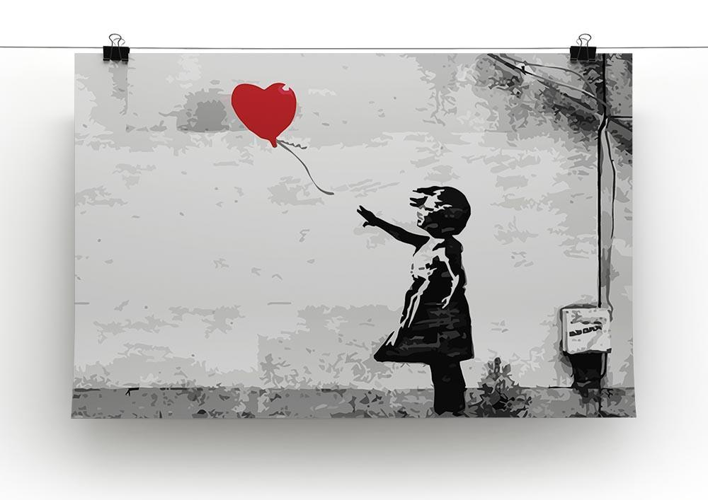 Banksy Girl With Balloon Poster