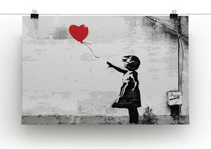 Banksy Balloon Girl Love Heart Canvas Print or Poster - Canvas Art Rocks - 2