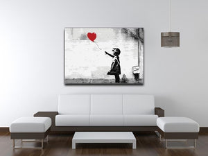 Banksy Balloon Girl Love Heart Canvas Print or Poster - Canvas Art Rocks - 4