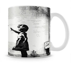 Banksy Balloon Girl Love Heart Mug - Canvas Art Rocks - 1