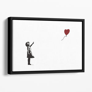 Banksy Balloon Heart Girl Floating Framed Canvas