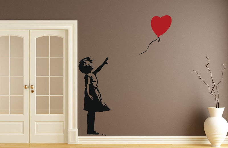 Banksy Balloon Heart Girl Wall Decal