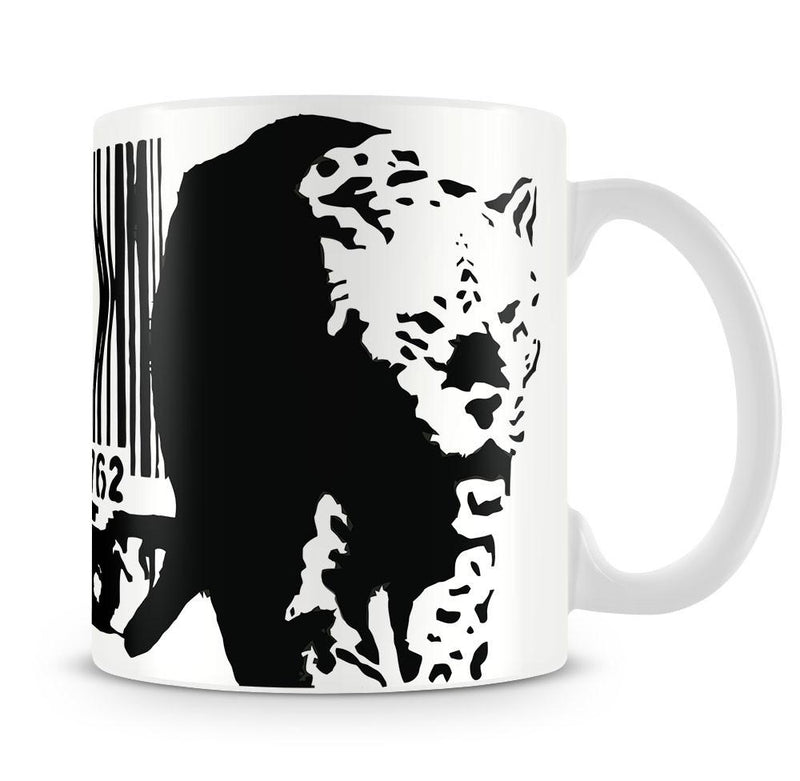 Banksy Barcode Leopard Cup - US Canvas Art Rocks