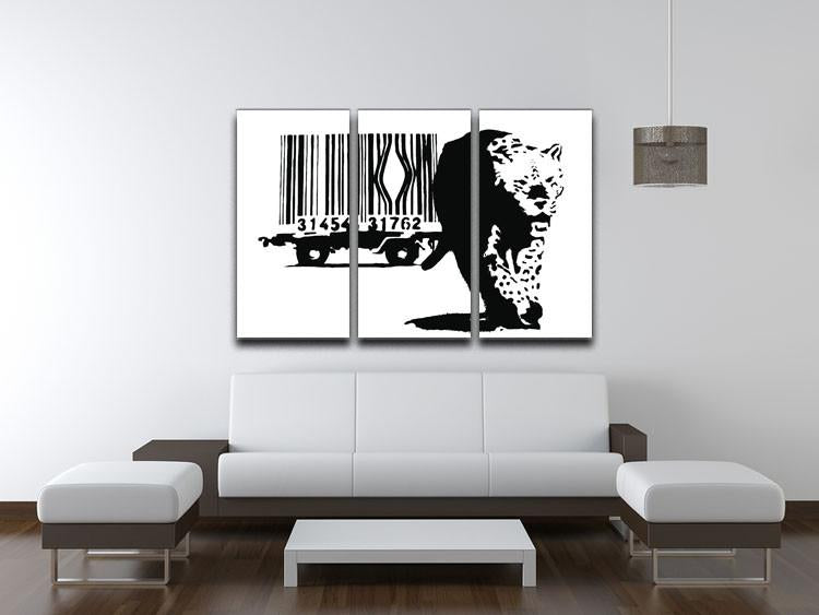 Banksy Barcode Leopard 3 Split Canvas Print - US Canvas Art Rocks