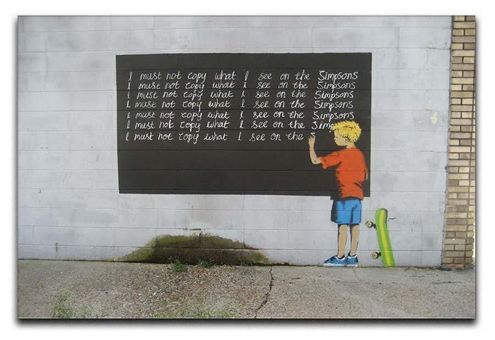 Banksy Bart Simpson Canvas Print or Poster