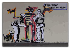 Banksy Basquiat Metropolitan Police Canvas Print or Poster  - Canvas Art Rocks - 1