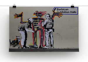 Banksy Basquiat Metropolitan Police Canvas Print or Poster - Canvas Art Rocks - 2