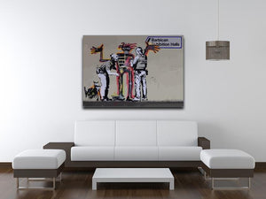 Banksy Basquiat Metropolitan Police Canvas Print or Poster - Canvas Art Rocks - 4
