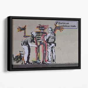 Banksy Basquiat Metropolitan Police Floating Framed Canvas
