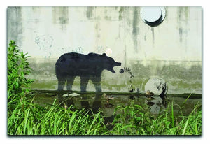 Banksy Bear Canvas Print or Poster  - Canvas Art Rocks - 1