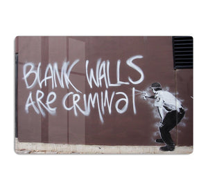 Banksy Blank Walls Are Criminal HD Metal Print