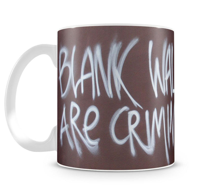 Banksy Blank Walls Are Criminal Cup - US Canvas Art Rocks