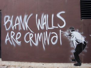 Banksy Blank Walls Are Criminal Wall Mural Wallpaper - Canvas Art Rocks - 1