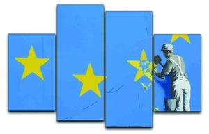 Banksy Brexit Star Dover 4 Split Panel Canvas  - Canvas Art Rocks - 1