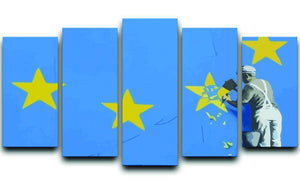 Banksy Brexit Star Dover 5 Split Panel Canvas  - Canvas Art Rocks - 1