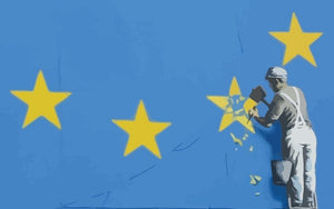 Banksy Brexit Star Dover Wall Mural Wallpaper - Canvas Art Rocks - 1