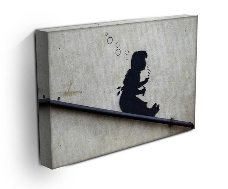 Banksy Bubble Slide Girl Print - Canvas Art Rocks - 3