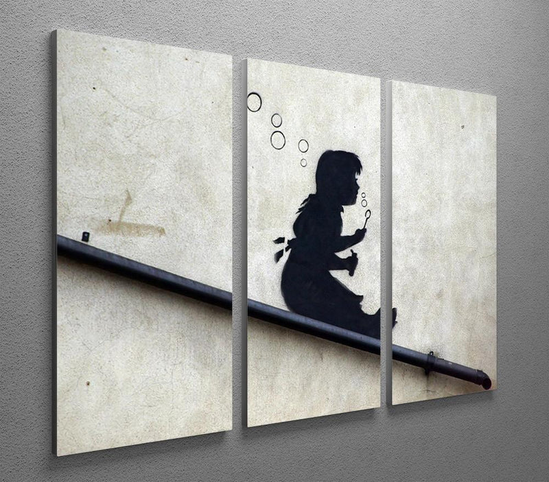 Banksy Bubble Slide 3 Split Panel Canvas Print - US Canvas Art Rocks